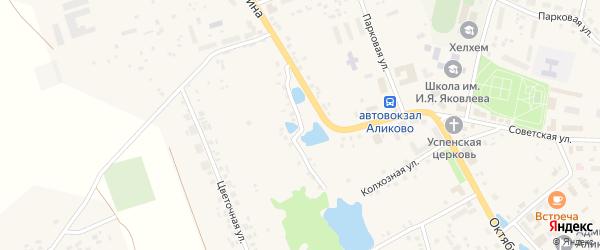 Улица Гагарина на карте села Аликово с номерами домов