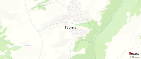 Карта села Гертмы в Дагестане с улицами и номерами домов
