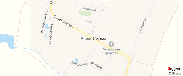 Советская улица на карте деревни Азима-Сирмы с номерами домов