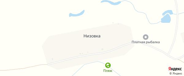 Чебоксарская улица на карте поселка Низовки с номерами домов