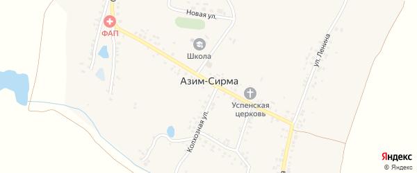 Улица Мира на карте деревни Азима-Сирмы с номерами домов