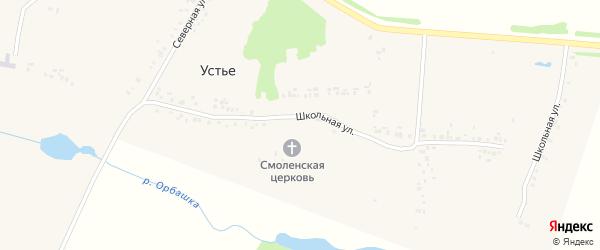 Северная улица на карте села Устья с номерами домов