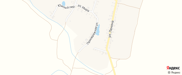 Приовражная улица на карте деревни Азима-Сирмы с номерами домов