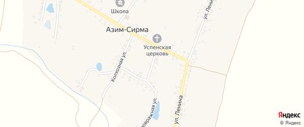 Складская улица на карте деревни Азима-Сирмы с номерами домов