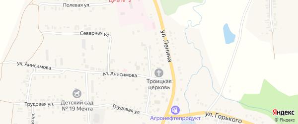 Учительский переулок на карте села Большого Сундыря с номерами домов
