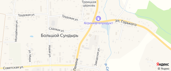 Улица Ленина на карте села Большого Сундыря с номерами домов