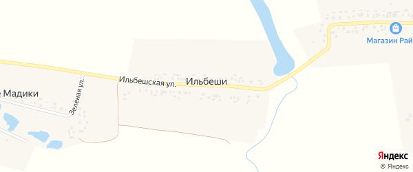 Ильбешская улица на карте деревни Ильбеши с номерами домов