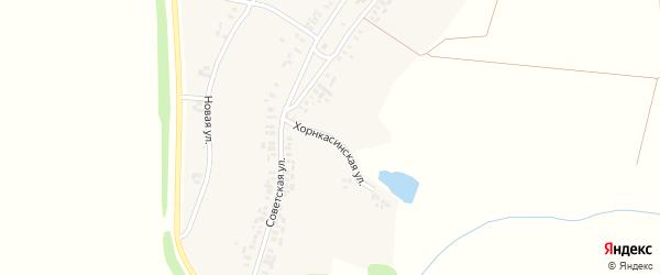 Хорнкасинская улица на карте деревни Вурманкасы (Юськасинское с/п) с номерами домов