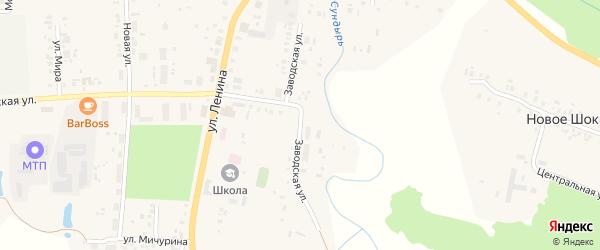 Заводская улица на карте села Большого Сундыря с номерами домов