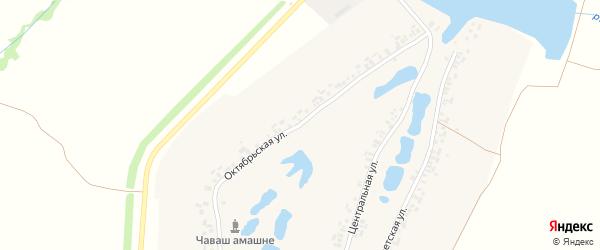 Октябрьская улица на карте деревни Вурманкасы (Юськасинское с/п) с номерами домов