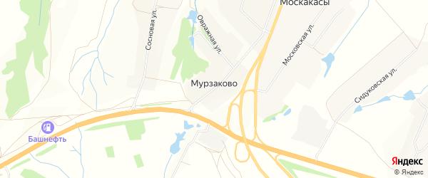Карта деревни Мурзаково в Чувашии с улицами и номерами домов
