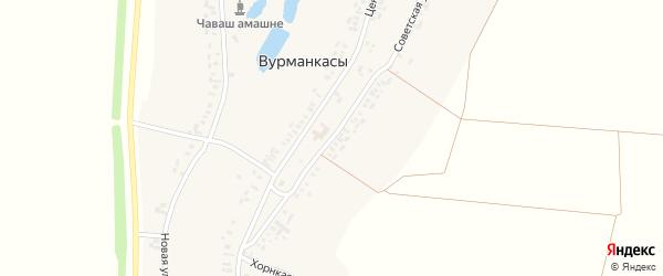 Советская улица на карте деревни Вурманкасы (Юськасинское с/п) с номерами домов