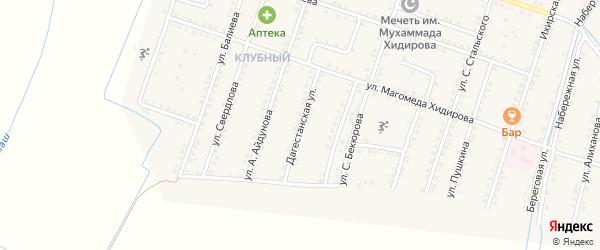 Дагестанская улица на карте села Куруша с номерами домов