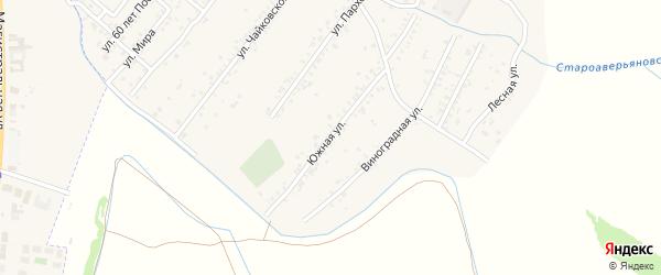 Южная улица на карте села Аверьяновки с номерами домов