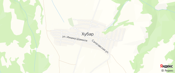 Карта села Хубара в Дагестане с улицами и номерами домов
