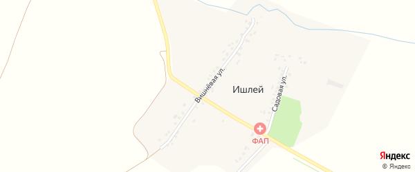 Вишневая улица на карте деревни Ишлея с номерами домов