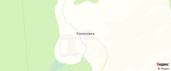 Карта поселка Калиновки в Чувашии с улицами и номерами домов