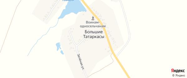 Улица Пакшандаева на карте деревни Большие Татаркасы с номерами домов