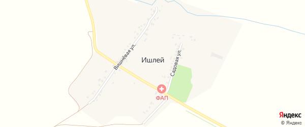 Нижняя улица на карте деревни Ишлея с номерами домов