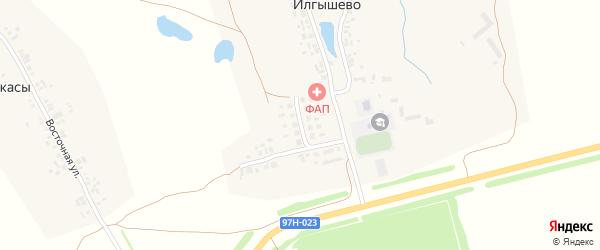 Молодежная улица на карте деревни Илгышево с номерами домов