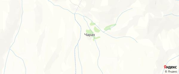 Карта хутора Чараха в Дагестане с улицами и номерами домов