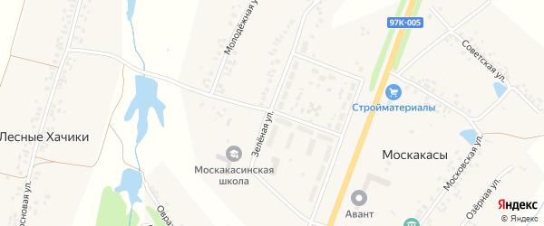 Главная улица на карте деревни Полевые Хачики с номерами домов