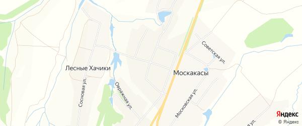Карта деревни Полевые Хачики в Чувашии с улицами и номерами домов
