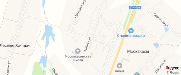 Новая улица на карте деревни Полевые Хачики с номерами домов