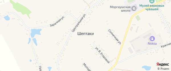1-я Набережная улица на карте деревни Шептаки (Хорнойское с/п) с номерами домов