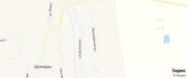 Молодежная улица на карте деревни Шинеры с номерами домов
