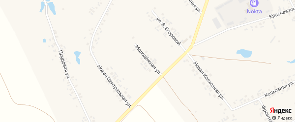 Молодежная улица на карте деревни Шептаки (Моргаушское с/п) с номерами домов