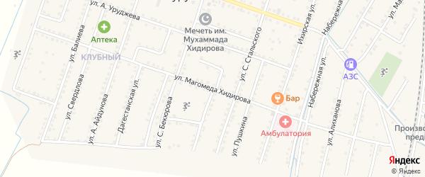 Улица Энгельса на карте села Куруша с номерами домов