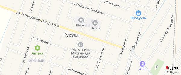 Улица М.Балиева на карте села Куруша с номерами домов