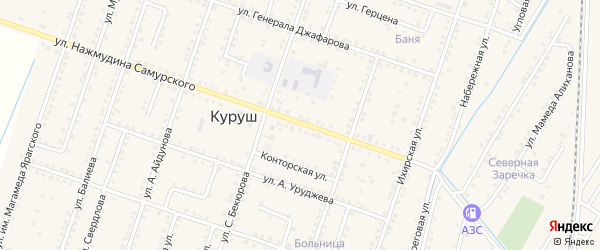 Поселковая улица на карте села Куруша с номерами домов
