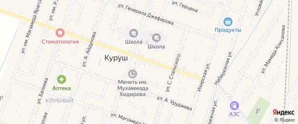 Улица Р.Джафарова на карте села Куруша с номерами домов