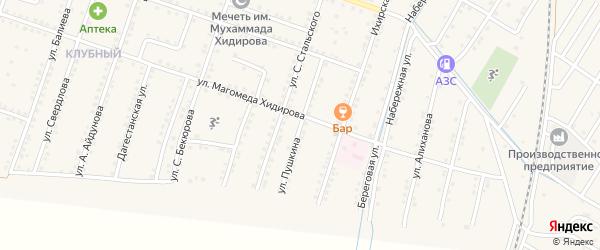 Улица Пушкина на карте села Куруша с номерами домов