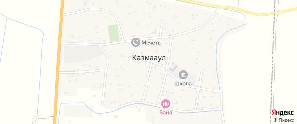 Улица Гелеханова на карте села Казмаула с номерами домов