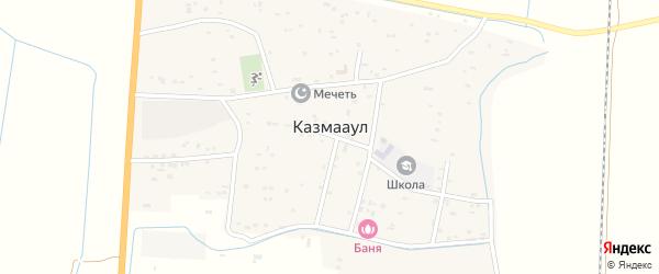 Инженерная улица на карте села Казмаула с номерами домов