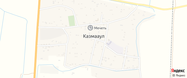 Молочная улица на карте села Казмаула с номерами домов