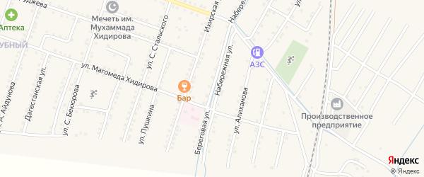 Береговая улица на карте села Куруша с номерами домов