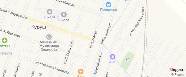 Комсомольская улица на карте села Куруша с номерами домов
