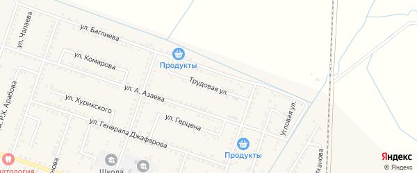Трудовая улица на карте села Куруша с номерами домов