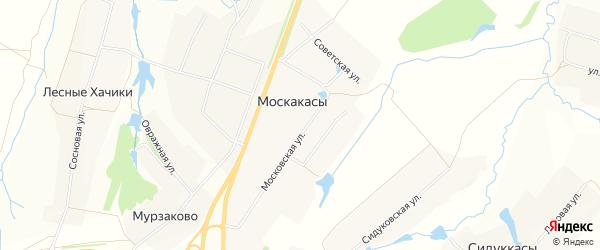 СТ Приборостроитель на карте деревни Москакасы с номерами домов