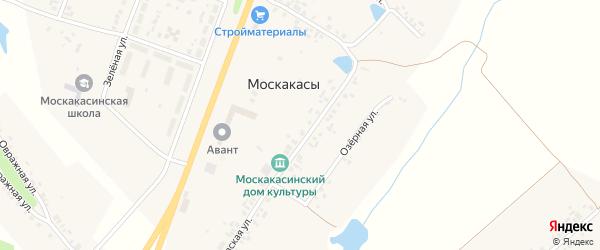 Молодежная улица на карте деревни Москакасы с номерами домов