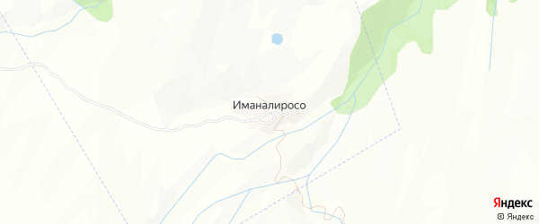 Карта села Иманалироса в Дагестане с улицами и номерами домов