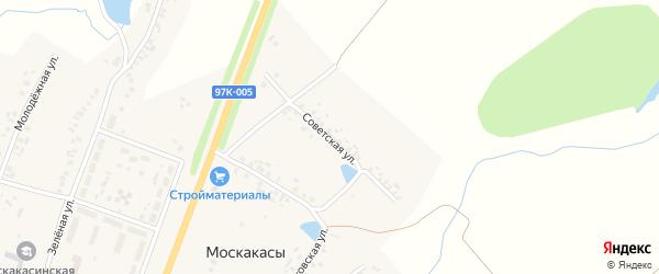 Советская улица на карте деревни Москакасы с номерами домов