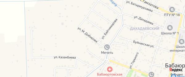 Улица Дибирова на карте села Бабаюрта с номерами домов