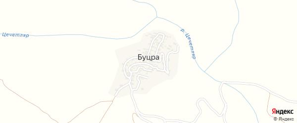 Широкая улица на карте села Буцра с номерами домов