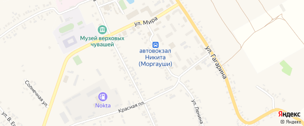 Южная улица на карте села Моргаушей с номерами домов