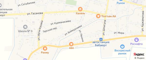 Улица Биймурзаева на карте села Бабаюрта с номерами домов
